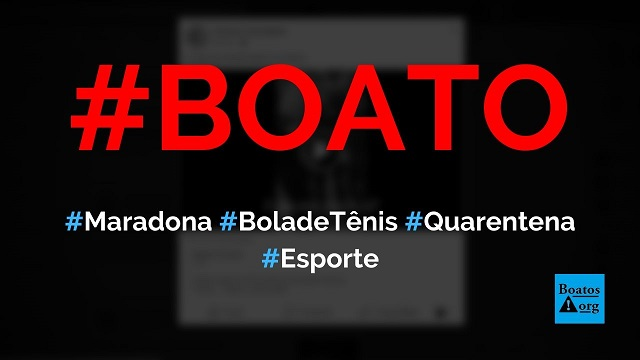 """Vídeo mostra Maradona """"muito gordo"""" chutando bola de tênis na quarentena, diz boato (Foto: Reprodução/Facebook)"""