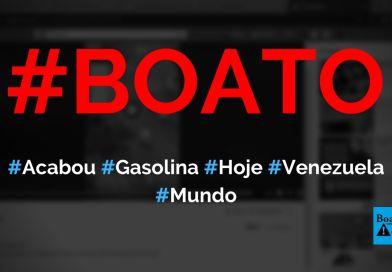 Acabou a gasolina em Caracas (Venezuela) e carros fizeram fila gigante hoje, mostra vídeo, diz boato (Foto: Reprodução/Facebook)