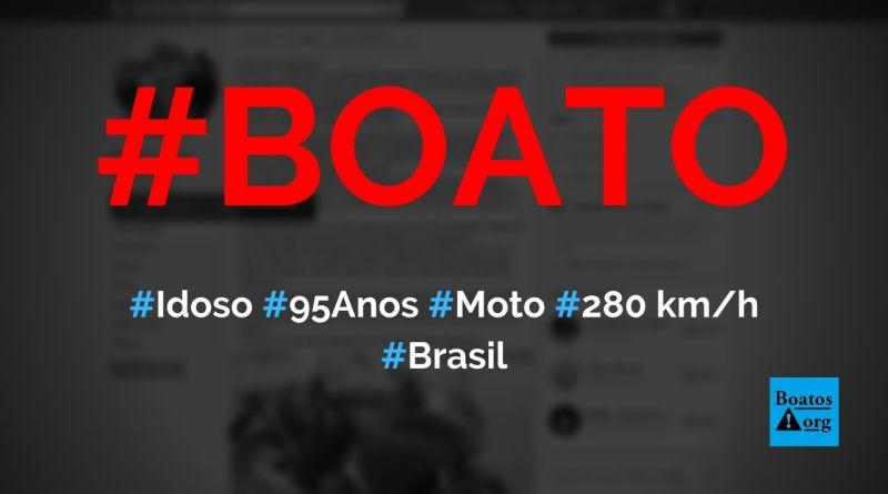 Idoso de 95 anos é flagrado pela PRF andando a 280 kmh em Uruguaiana, diz boato (Foto: Reprodução/Facebook)