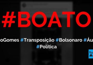 Ivo Gomes, irmão de Ciro Gomes, grava áudio sobre transposição do rio São Francisco, PT e Bolsonaro, diz boato (Foto: Reprodução/Facebook)