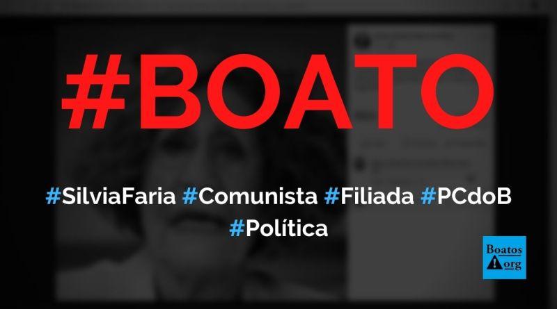 Silvia Faria, diretora da Globo, é comunista e já foi filiada ao PCdoB, diz boato (Foto: Reprodução/Facebook)