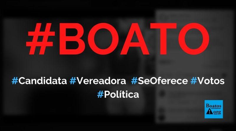 Candidata a vereadora é presa após se oferecer em troca de votos, diz boato (Foto: Reprodução/Facebook)