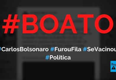 Carlos Bolsonaro furou fila e tomou a vacina contra Covid-19, diz boato (Foto: Reprodução/Twitter)