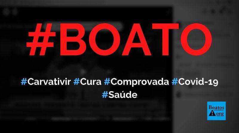 Carvativir são gotas milagrosas com 100% de cura da Covid-19, diz boato (Foto: Reprodução/Facebook)