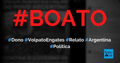 Dono da Volpato Engates faz relato sobre miséria na Argentina e exalta Bolsonaro, fala boato (Foto: Reprodução/Facebook)