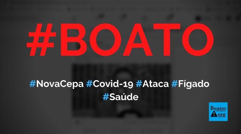 Nova cepa da Covid-19 ataca o fígado e causa hepatite, diz boato (Foto: Reprodução/Facebook)