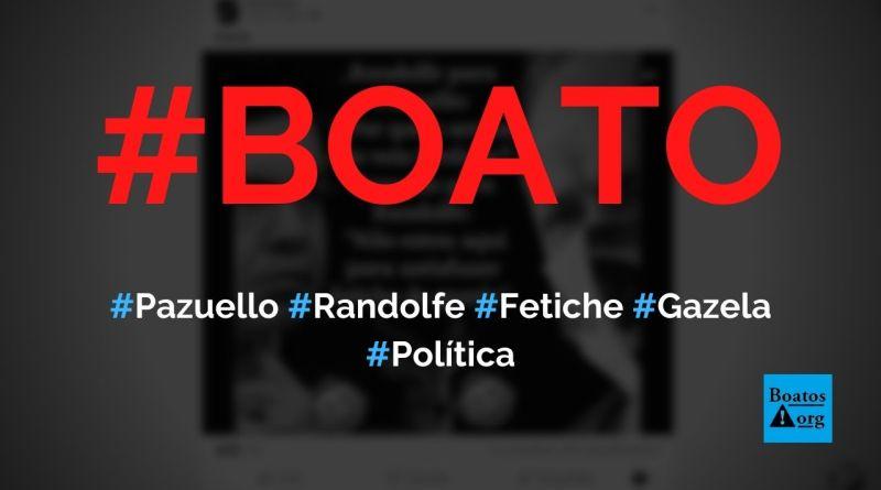 """Pazuello diz """"não estou aqui para satisfazer fetiche de gazela"""" para Randolfe Rodrigues, diz boato (Foto: Reprodução/Facebook)"""