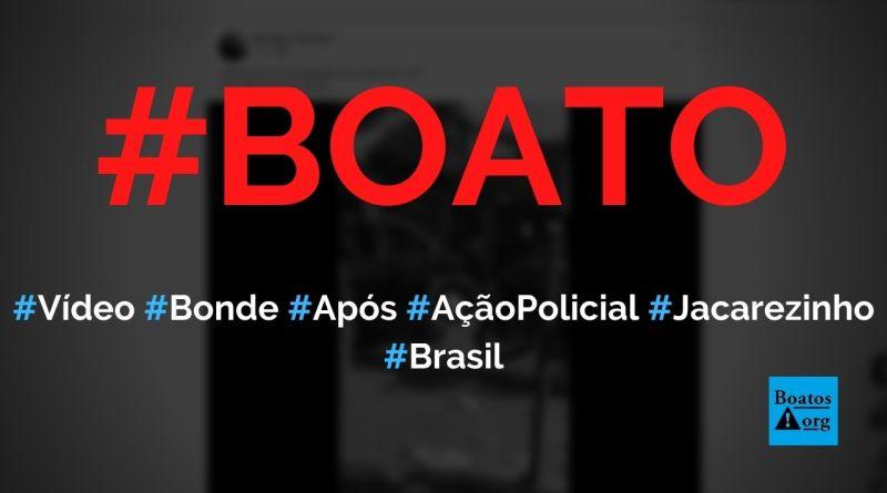Vídeo mostra Bonde do Jacaré após ação policial no Jacarezinho, diz boato (Foto: Reprodução/Facebook)