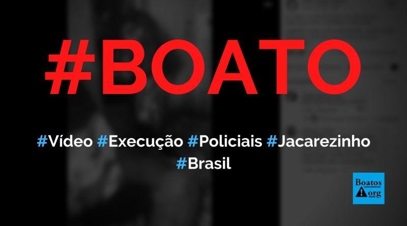 Vídeo mostra policiais invadindo casa e executando homem no Jacarezinho, diz boato (Foto: Reprodução/Facebook)