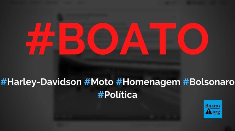 Harley-Davidson vai lançar moto em homenagem a Bolsonaro, a MITO-2022JB, diz boato (Foto: Reprodução/Facebook)