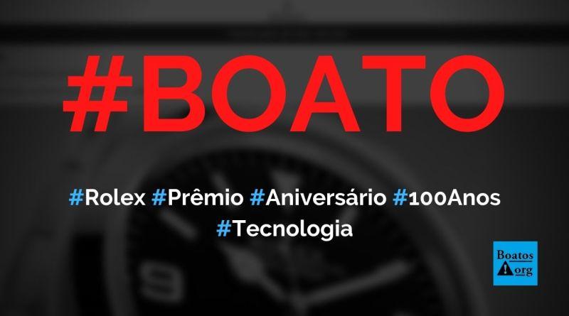 Rolex comemora 100º aniversário e dá relógios no WhatsApp, diz boato (Foto: Reprodução/Internet)