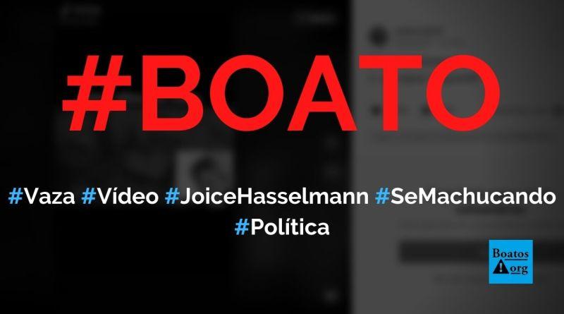 Vaza vídeo de Joice Hasselmann se machucando sozinha enquanto dorme, diz boato (Foto: Reprodução/TikTok)