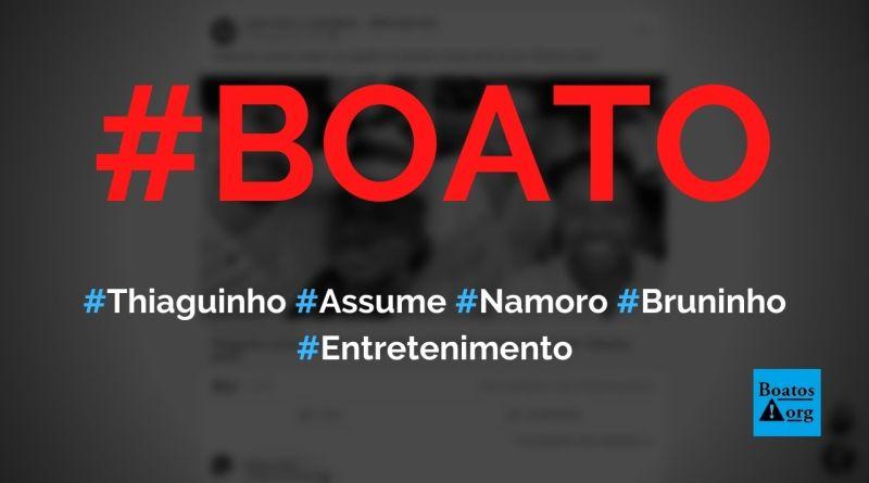 Cantor Thiaguinho assume namoro com jogador de vôlei Bruninho, diz boato (Foto: Reprodução/Facebook)