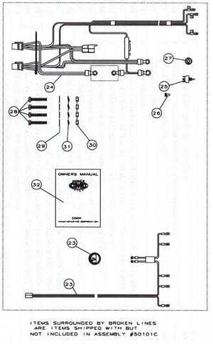 CMC PT130 Tilt and Trim 1300113002 Parts  SN PT014853014857, 015118 to Current
