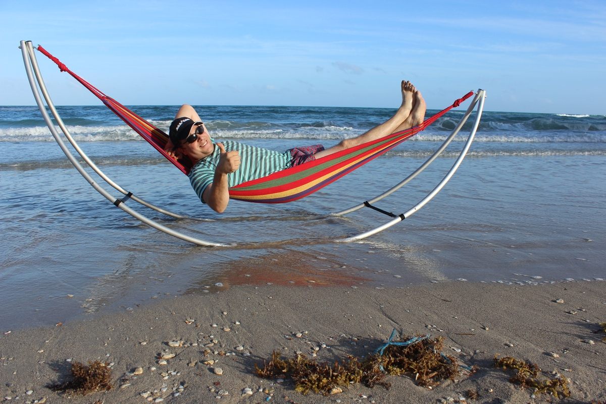 Portable Easy Use Folding Beach Hammock Heavy Duty