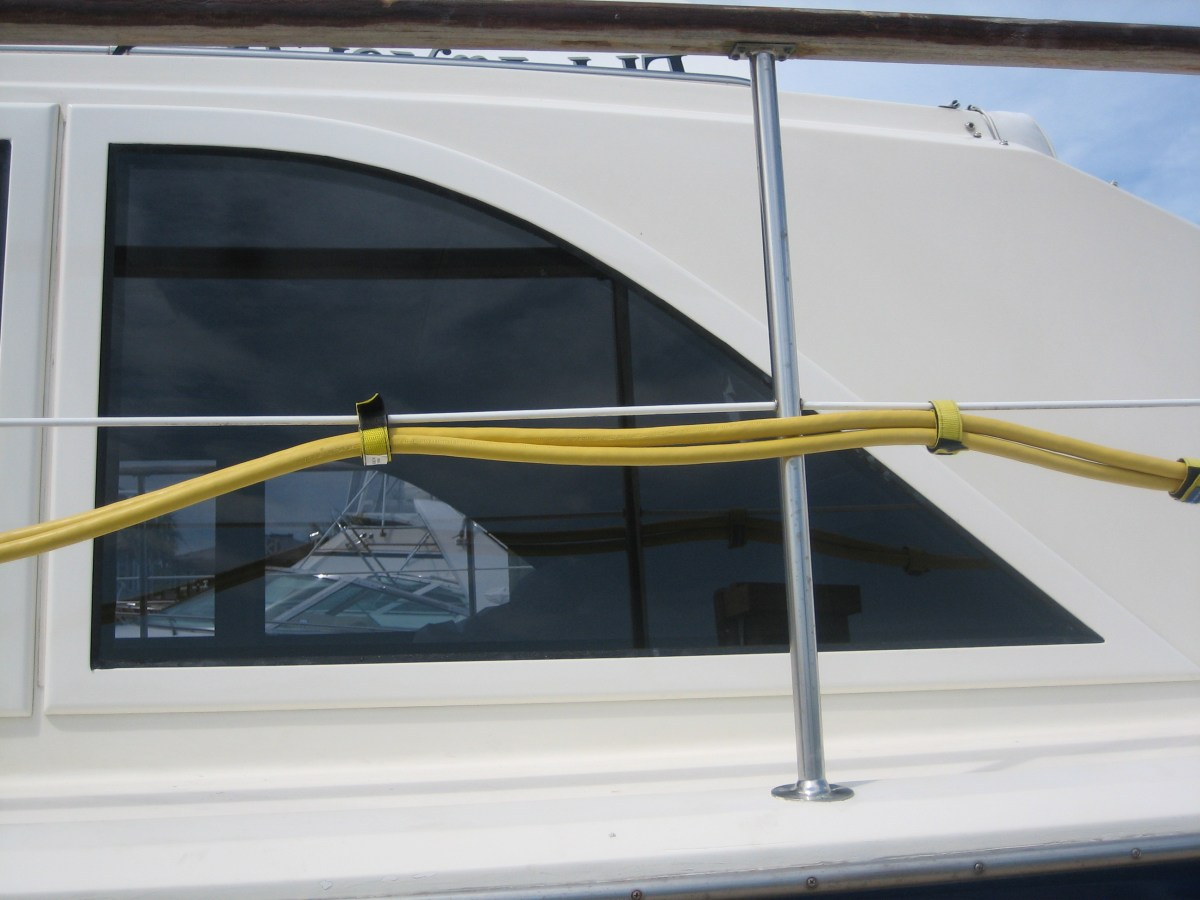 Photo of Boat Windows on Hatteras 43'