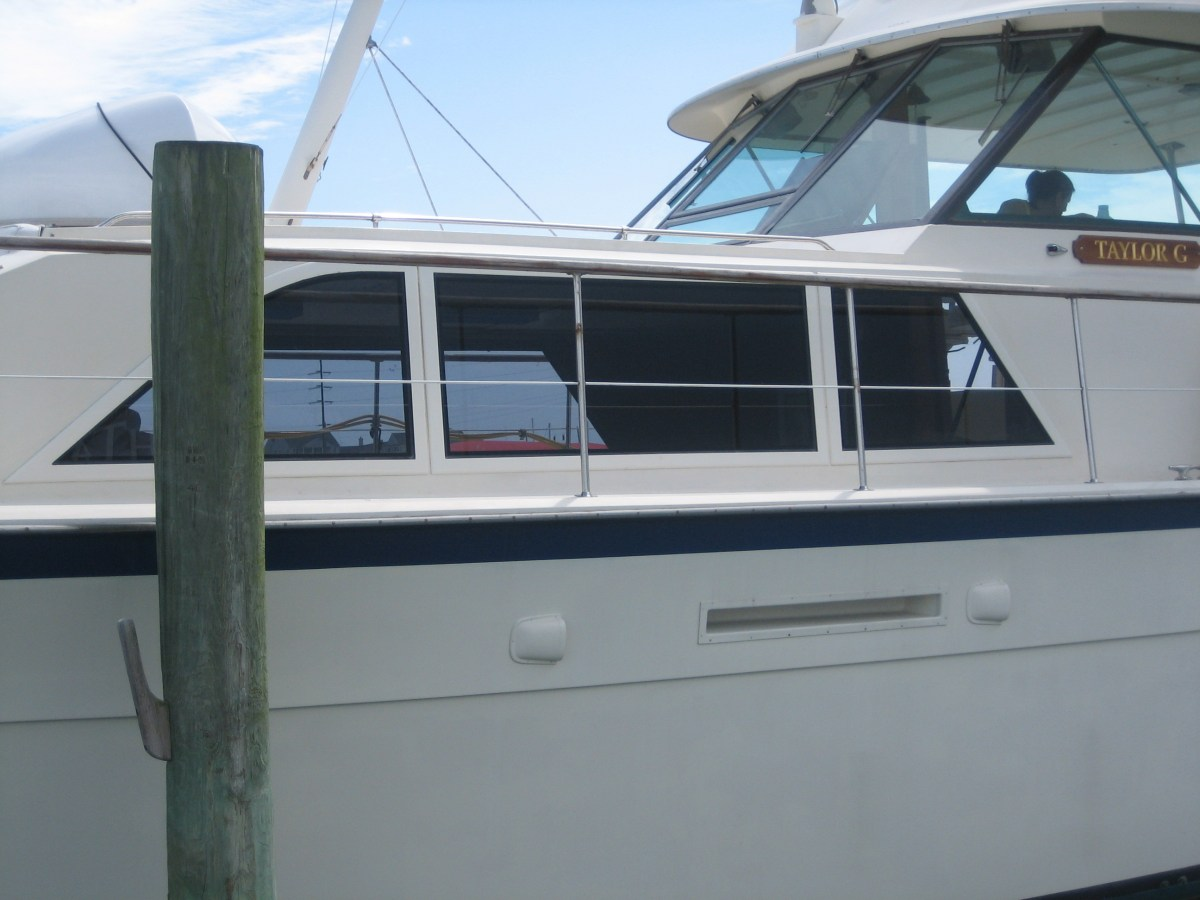 Photo of Boat Windows on Hatteras 43'