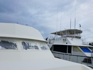 picture of Hatteras Yachts at Rose Boatworks Yacht Refit Facility