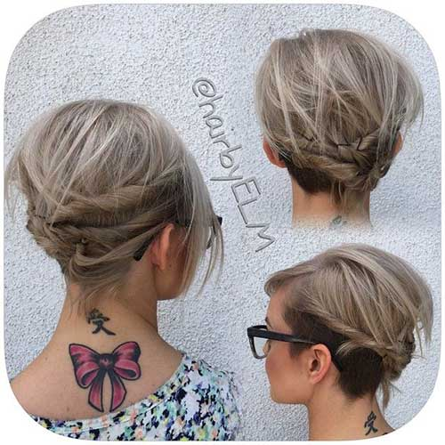 Lob  Hairstyles  Updo  Hair