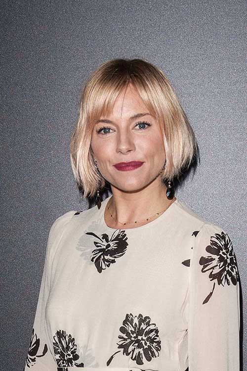 20 Sienna Miller Bob Hair Bob Hairstyles 2018 Short