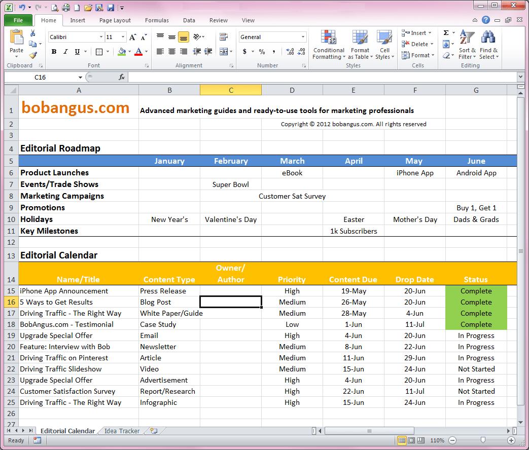 Program Calendar Template. free editorial calendar template bob ...