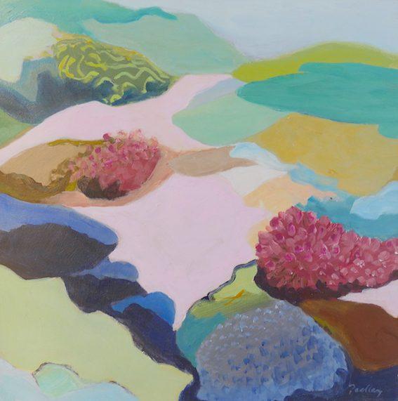underwater landscape, ascend, artist robyn pedley, bobbie p gallery