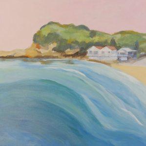 haven pink sky II, artist robyn pedley, landscape, beachscape, bobbie p gallery