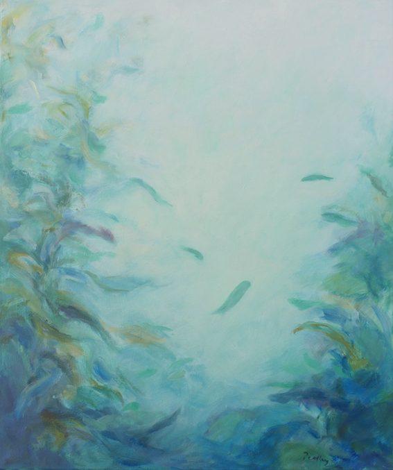refuge V, underwater landscape, original artwork by robyn pedley, bobbie p gallery