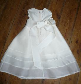 Girl christening gown Bobbins and buttons