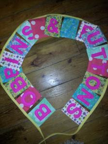 bobbins and buttons bunting