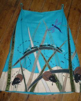 bug skirt Bobbins and buttons