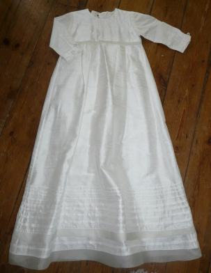 christening gown Bobbins and buttons