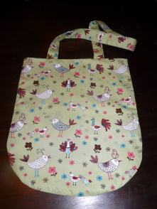 curved shopper bag Bobbins and buttons