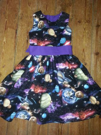 school space dress bobbins and buttions