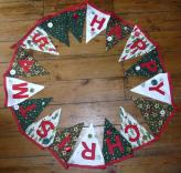 xmas bunting Bobbins and buttons
