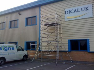 Image of a sign being fitted