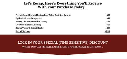 Private Label Rights Masterclass