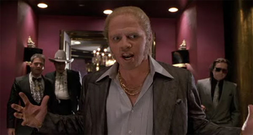 Mr. Biff Tannen welcomes me to his corporate office.
