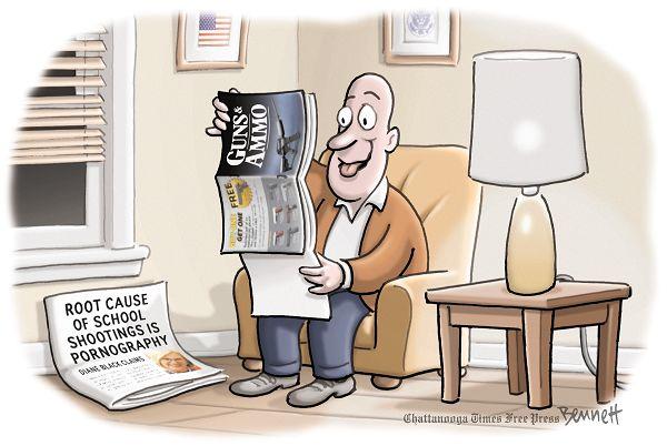 Scene:  Living Room.  Newspaper with headline,