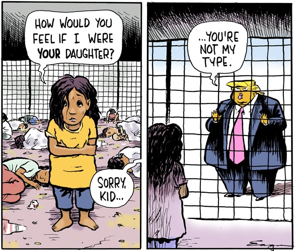 Young migrant girl in detention asks,
