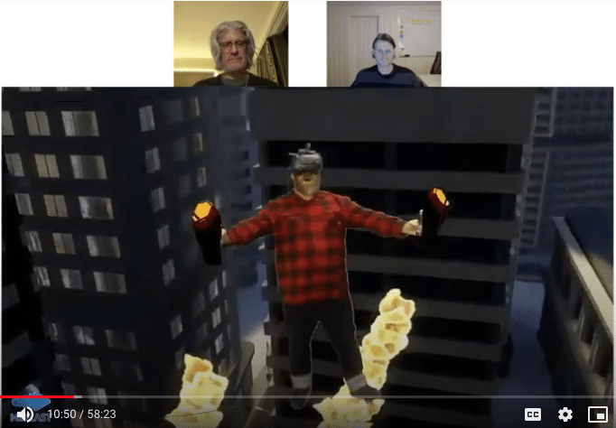 Bob discusses mixed reality with Tarrnie WIlliams