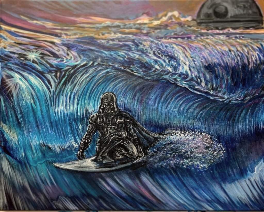 Darth Vader Surfing by Josh Paskowitz