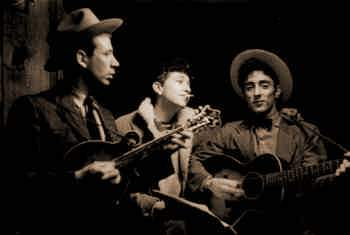 Bob Dylan with his band