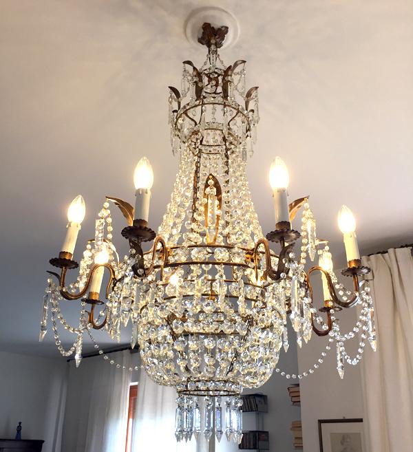 restauro lampadari Bobeche