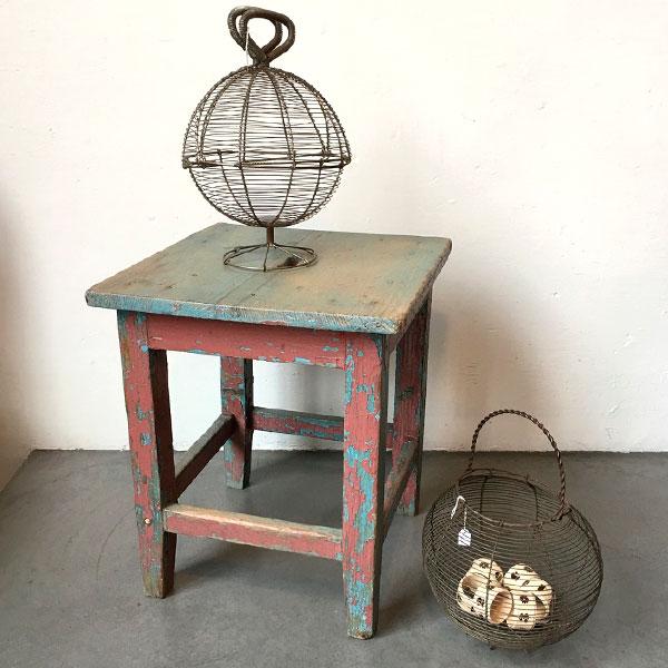 tavolino industriale Bobeche vintage