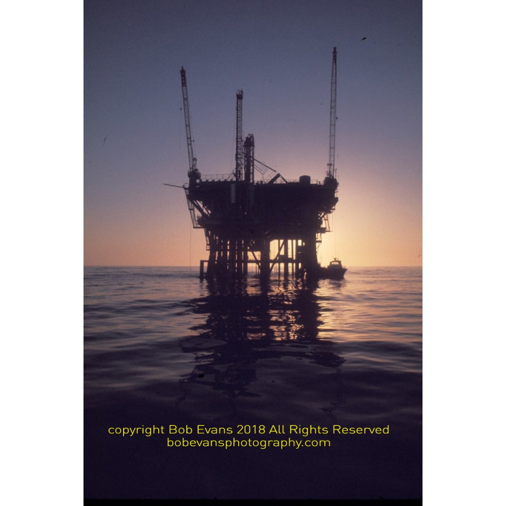 platform holly, decommission platform, offshore oil platform