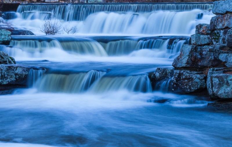 10051. Waterfall at Lake Bailey Dam, Petit Jean State Park, Arkansas