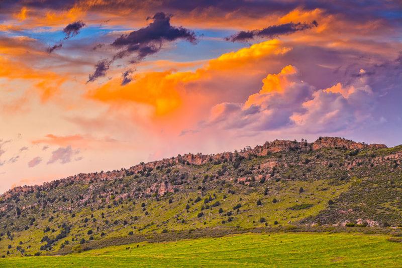 10572 Mountain sunset, Colorado