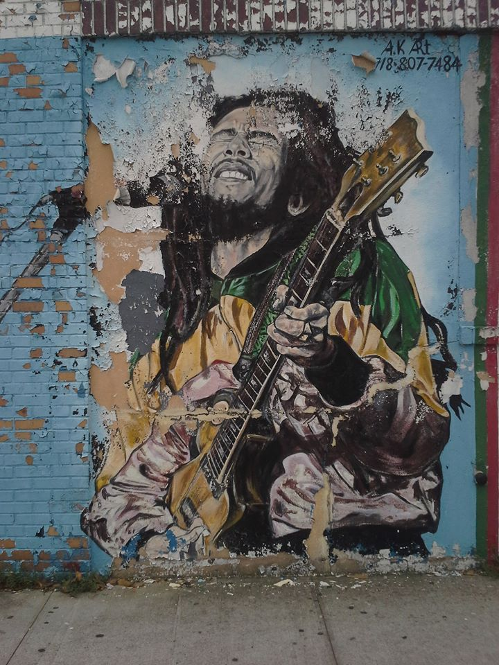 Image result for street mural bob marley
