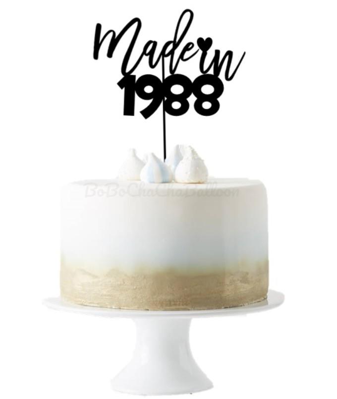 [Cake Topper] Custom Name TURNS Custom Age